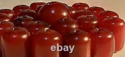 100g antique cherry amber Faturan beads 23 pcs