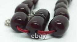 103 Grams Antique Faturan Cherry Amber Rosary Prayer Beads Marbled