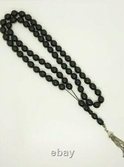 169 Grams Antique Faturan Cherry Amber Bakelite Rosary Prayer Beads