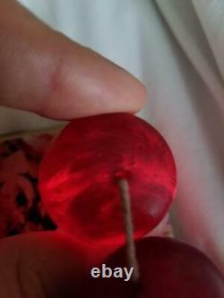 335 g Bakelite cherry necklace (Faturan, beads Amber) imitation antique vintage