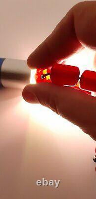 53.8 Grams Antique Faturan Cherry Amber Beads Necklace Rosary Tesbih Prayer Bead