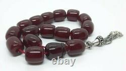 60.4 Grams Antique Cherry Amber Bakelite Beads