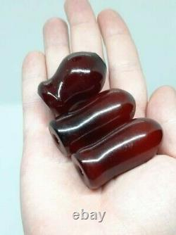 60 Grams Antique Big Faturan Cherry Amber Hookah Mouthpiece