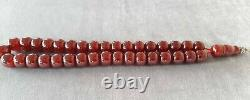 90 Grams Antique Faturan Cherry Amber Bakelite Beads Rosary Misbah Marbled