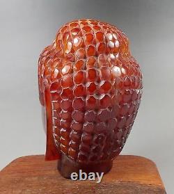 9Red Amber carving Guanyin Kwan-yin statue