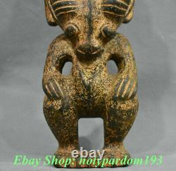9 China Hongshan Culture Old Jade Stone 12 Zodiac Year Sheep People Statue