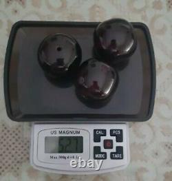 ANTIQUE 3 GENUINE LARGE CHERRY AMBER BAKELITE FATURAN BEADS 30mm