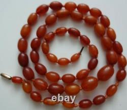 ANTIQUE Gold Filled Egg Yolk GENUINE CHERRY Butterscotch BALTIC AMBER NECKLACE