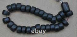 ANTIQUE OTTOMAN EARLY CHERRY AMBER BAKELITE FATURAN PRAYER BEADS 63 grams