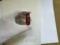ANTIQUE OTTOMAN RED CHERRY AMBER BAKELITE FATURAN BEAD IMAM SPIRAL DAMARI 9.8 gr