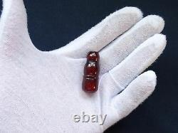 ANTIQUE VINTAGE RED CHERRY AMBER BAKELITE FATURAN IMAM BEAD 6 grams