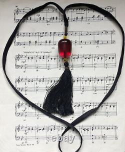 Antique Art Deco Cherry Amber Bakelite Bead Tassel Flapper Necklace Tested Gatsb