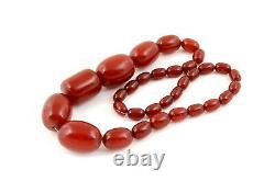 Antique Art Deco Cherry Amber Bakelite Beads Necklace 57g