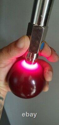 Antique Art Deco Cherry opaque color Bakelite ball