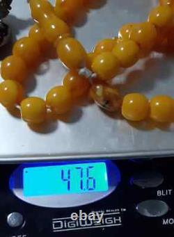 Antique Bakelite cherry amber PRAYER Tasbih BEADS 47.6Gr