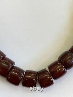 Antique Cherry Amber Bakelite Faturan Islamic Prayer Beads