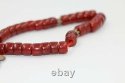 Antique Cherry Amber Rare German Faturan Bakelite Prayer Beads Misbaha 80 years