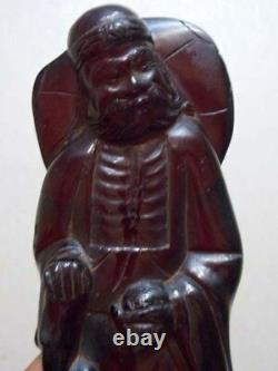 Antique Cherry Amber bakelite Carved Figurine Statuette 320g bakalit
