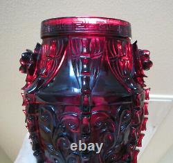 Antique Chinese Cherry Amber Bakelite Vase Elephant 1170 Grams