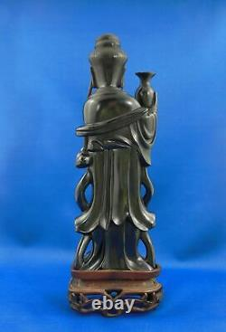 Antique Chinese Kwanyin Guanyin Carved Cherry Amber Bakelite 500 g Faturan
