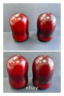 Antique Faturan Amber Red Cherry Arabic Turkey Hookah Sihsha 2 Mouthpieces R3