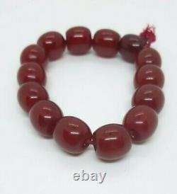 Antique Faturan Cherry Amber 12 Same Beads Marbled 20 Grams
