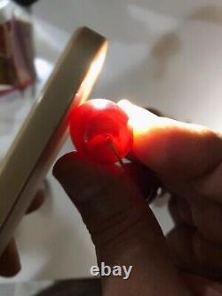 Antique Faturan Cherry Amber Bakelite Huge Beads 151 grams