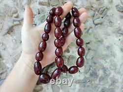Antique Faturana Cherry Amber Bakelite Large Beads 147 grams