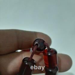 Antique German cherry amber bakelite Prayer beads 65 gr