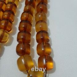 Antique German genuine Faturan bakelite cherry amber Prayer beads 70 gr