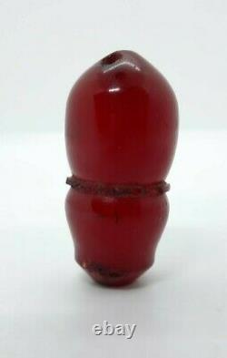 Antique Huge Ottoman Faturan Cherry Amber Imam Bead Rosary Tesbih Misbah Marbled