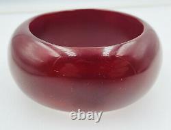 Antique Natural Red Cherry Amber Asymmetrical Huge Bangle Bracelet 124.8 Grams