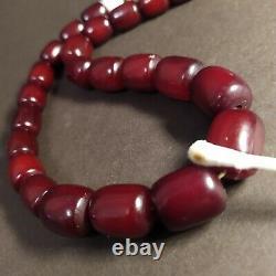 Antique Old Bakelite faturan Cherry amber