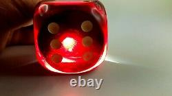 Antique Old Cherry Amber Bakelite Dice 188 gram
