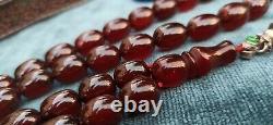 Antique Old Ottoman Cherry Amber Faturan, Big Size Osmanli Sikma Kehribar Tasbih