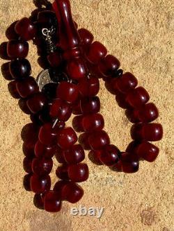 Antique Ottoman Cherry Amber Faturan Damari Prayer Beads