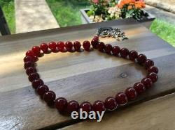 Antique Ottoman Damari Cherry Faturan Bakelite islamic Prayer Beads 109g R