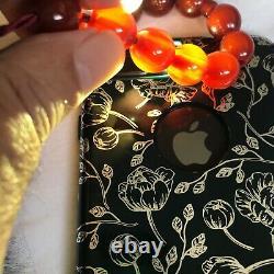 Antique Ottoman Empire Era Cherry Amber/Faturan Islamic prayer beads-35 each