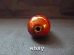 Antique Ottoman Hookah Mouthpiece Red Cherry Amber Bakelite Faturan Rare Niello