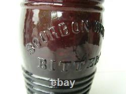 Antique Rich Red-Amber Barrel Bitters Bottle 9½ 1860-1870 67/14