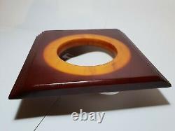 Antique Vintage Old Amber Bakelite Cherry Dice Beads Faturan Block Veined 500 gr