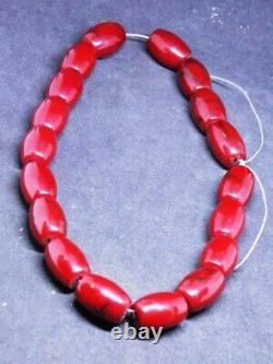 Antique cherry amber Bakelite prayer rosary Simichrome tested bakalit