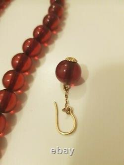 Antique collier Cherry amber Bakelite