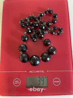 Art Deco Flapper Era Cherry Amber Bakelite Beads Necklace Vintage Antique 39g