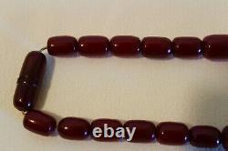 Beautiful Faturan Cherry Amber Bakelite Necklace Antique 110 Grams