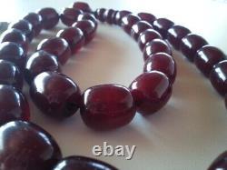 Bernsteinkette Cherry Bakelit Catalin Amber Amber Necklace Antique