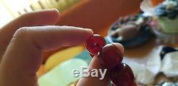 CHERRY AMBER BAKELITE SIKMA KEHRIBAR FATURAN PRAYER 135 gr RED MISBAH TESBIH