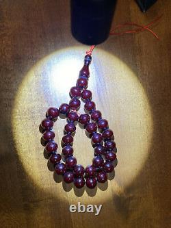 Cherry Amber Bakelite Sikma Kehribar Faturan Prayer Iskender Red Misbah Tesbih