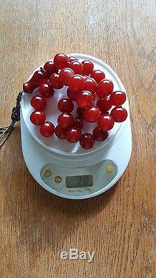 Cherry Amber Bakelite Sikma Kehribar Faturan Prayer Old Red Misbah Tesbih