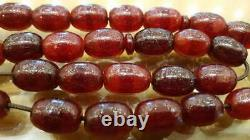 Cherry Amber Faturan Bakelite Antique Red Kehribar Prayer Misbaha Tesbih Beads